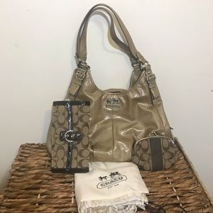Coach Madison Maggie Patent Leather Bundle Set